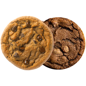 Picture of Chocolate Chip Cookie and Double Fudge Cookie