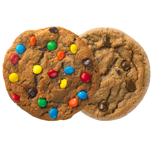 Picture of M&Ms and Original Chocolate Chip Cookies